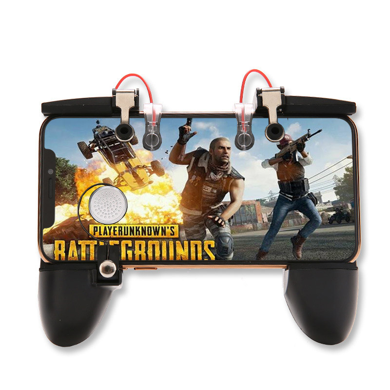 Image 3 - Six finger linkage PUBG Mobile Game Controller Gamepad Trigger Fire Button Aim Button L1 R1 Shooter Joystick For iphone Android-in Gamepads from Consumer Electronics