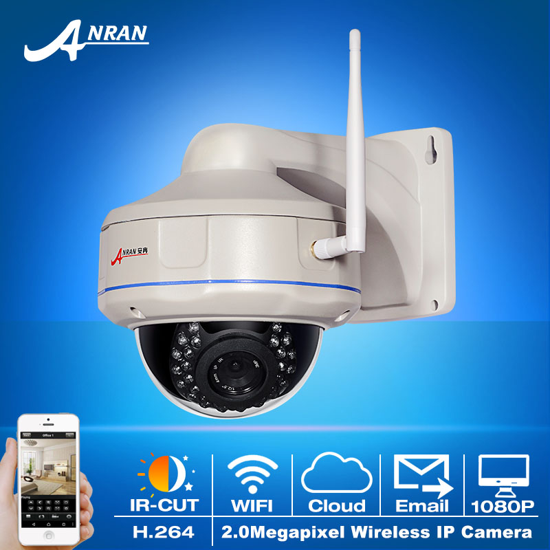 Fixed 1080P 2.0Megapixel HD Vandalproof Dome CCTV Camera Wireless Network H.264 Outdoor 30IR WIFI Security Surveillance Camera