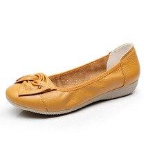 รองเท้าหนังแท้ผู้หญิงแฟชั่นลื่นในผู้หญิงแฟลตรองเท้าLoaferได้หลายสีหนังรองเท้า6c130T
