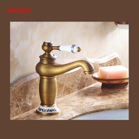 Promotion New Arrival Bathroom Vanity Sink Faucet Single Ceramic Handles Brass Hot And Cold Basin Mixer