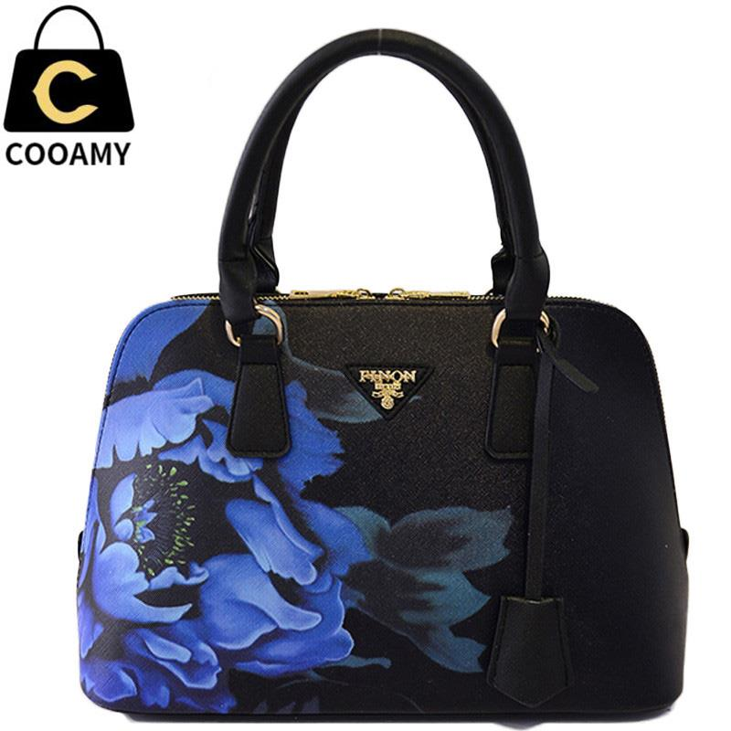 women messenger bag famous brand pu leather Designer handbags high quality tote print floral shoulder bag for lady bolsas sac paste lady real leather handbags patent famous brands designer handbags high quality tote bag woman handbags fringe hot t489
