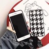 New Fashion 3D Sling Swallow Grid Soft Glossy Cases For IPhone8 8Plus Hound Stooth Geometric Vintage