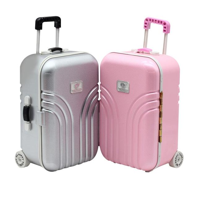 2a732e9f715f Doll Suitcase Doll Trolley Case Girl Toy Small Suitcase Simulation  Children s Toy Storage Box