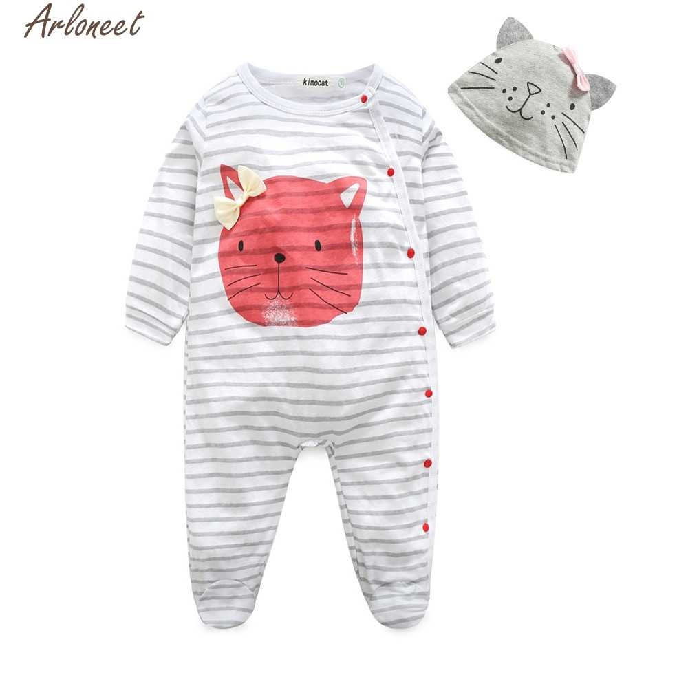 ad9115623d Detail Feedback Questions about ARLONEET Toddler Baby Girl Boy Clothes  Cartoon Cat Long Sleeve Romper Jumpsuit Outfits Set ages in children 0 2  years old on ...