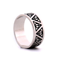 Ha rry Potter Always Deathly Hallows Triangle Logo Ring the Silver Plated Templar Ring for Women/Men Connor Kenway Movie Jewelry