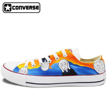 Original Converse All Star Low Top Woman Man Sneakers Custom Design Scream Hand Painted Shoes Men Women Unique Birthday Gifts