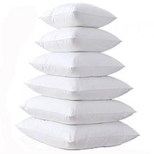 30/40/50/60/70 CM Blanco Suave Algodón de LOS PP Silla Sofá Del Asiento Del Coche Hight Quality Home Decor Throw Pillow cojines Interior 20×30 30×50 CM