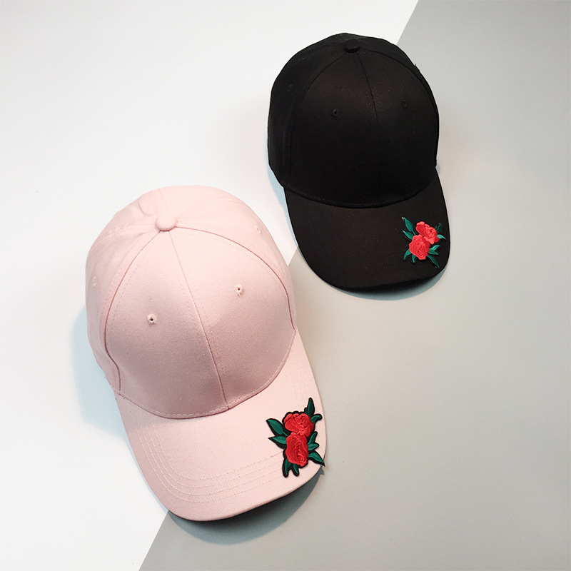 139d1fc29e82c HT1033 2017 New Hot Fashion Roses Men Women Baseball Caps Spring Summer Sun  Hats for Women Solid Snapback Cap Wholesale Dad Hat -in Baseball Caps from  Men s ...