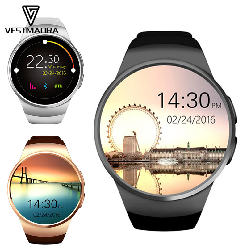 VESTMADRA Kw18 Bluetooth Smart Watch Smart Watch Phone Support SIM TF Card Fitness Wristwatch for Samsung Gear S2 Huawei stylish smart watch phone support sim tf