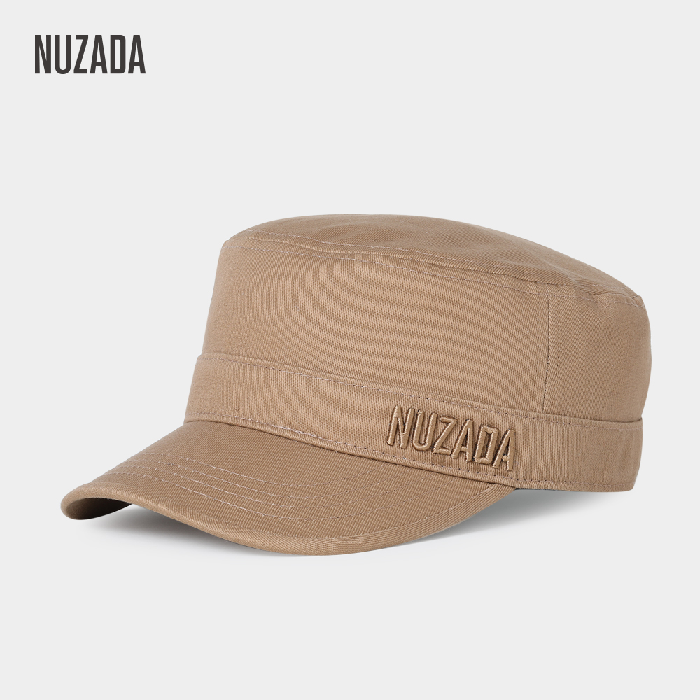 Brand NUZADA Exclusive Classic Unisex Men Women Military Hats Flat Top Cap Visor Hat Summer Autumn Spring Quality Embroidery