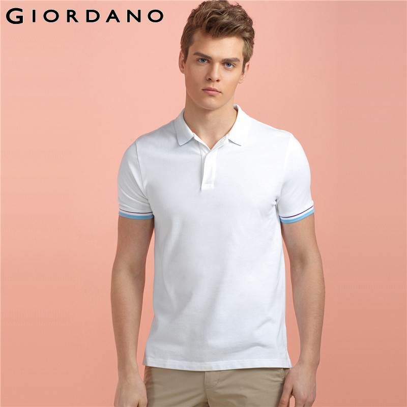 Giordano Men Polo Shirt Performance Short Sleeves Polos Clothing Famous Camisetas Vetement Jersey Casual Hombre