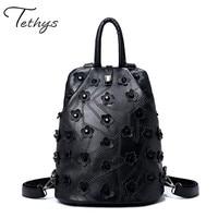 New Backpack Women Quilted Fashion Sheepskin Leather Backpack For Teenage Girls Shoulder Bags Travel Bag School