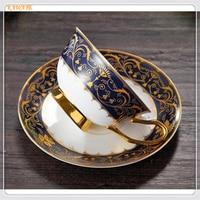 1set Beautiful Gifts Ceramic Cup Saucer Coffee Cup European Afternoon Tea Creative Milk Cup Tea Supplies
