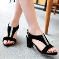 Sapato Feminino Sandalias Mujer Zapatos de Las Señoras Genuinas Plus Tamaño Grande 34-44 Zapatos Mujer Sandalias 2016 Verano Estilo de Chaussure 636