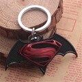 DC Batman Superman Dos Desenhos Animados chaveiro de Metal do carro Chaveiro Chaveiro Anel Keyfob
