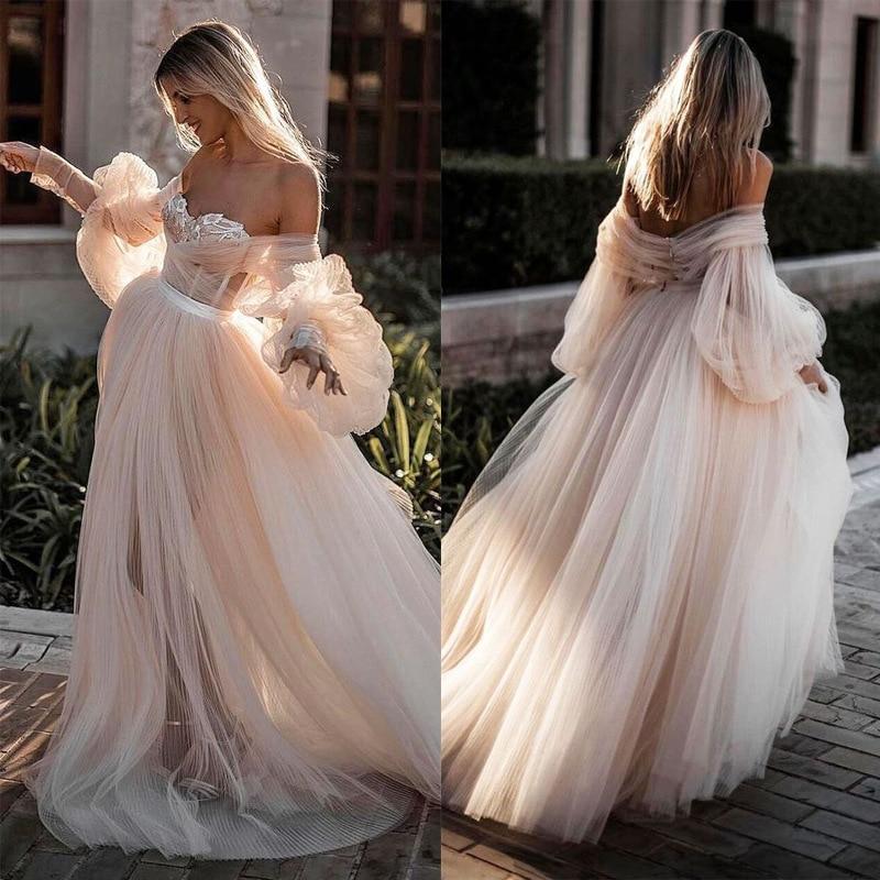BKLD 2019 Sexy Strapless Dress Long Dress For Wedding Party For Woman Off The Shoulder Dress Pink Elegant Floor Length Dress