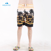 MOUNTEC Summer Hot Men Beach Shorts Quick Dry Printing Board Shorts Men Beach Pants