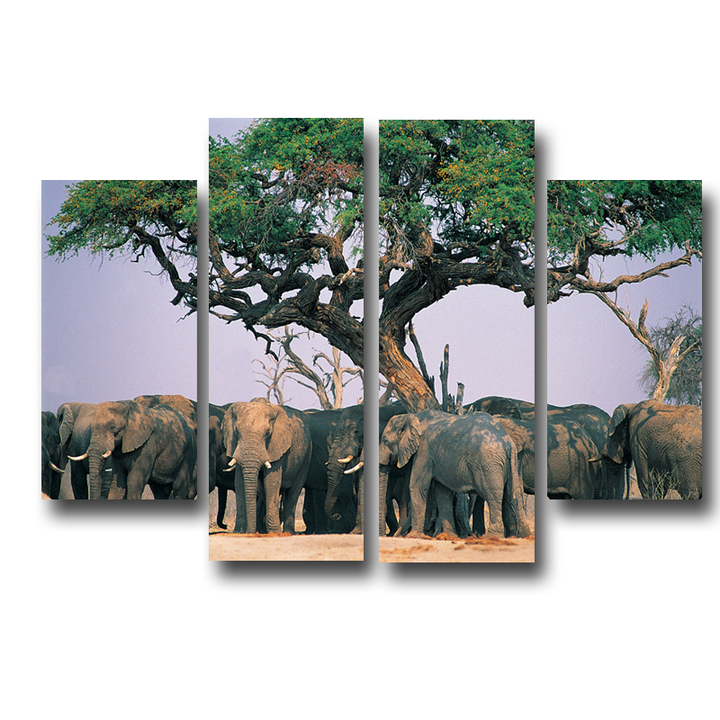 Online get cheap elephant wall decor for Art wall decoration