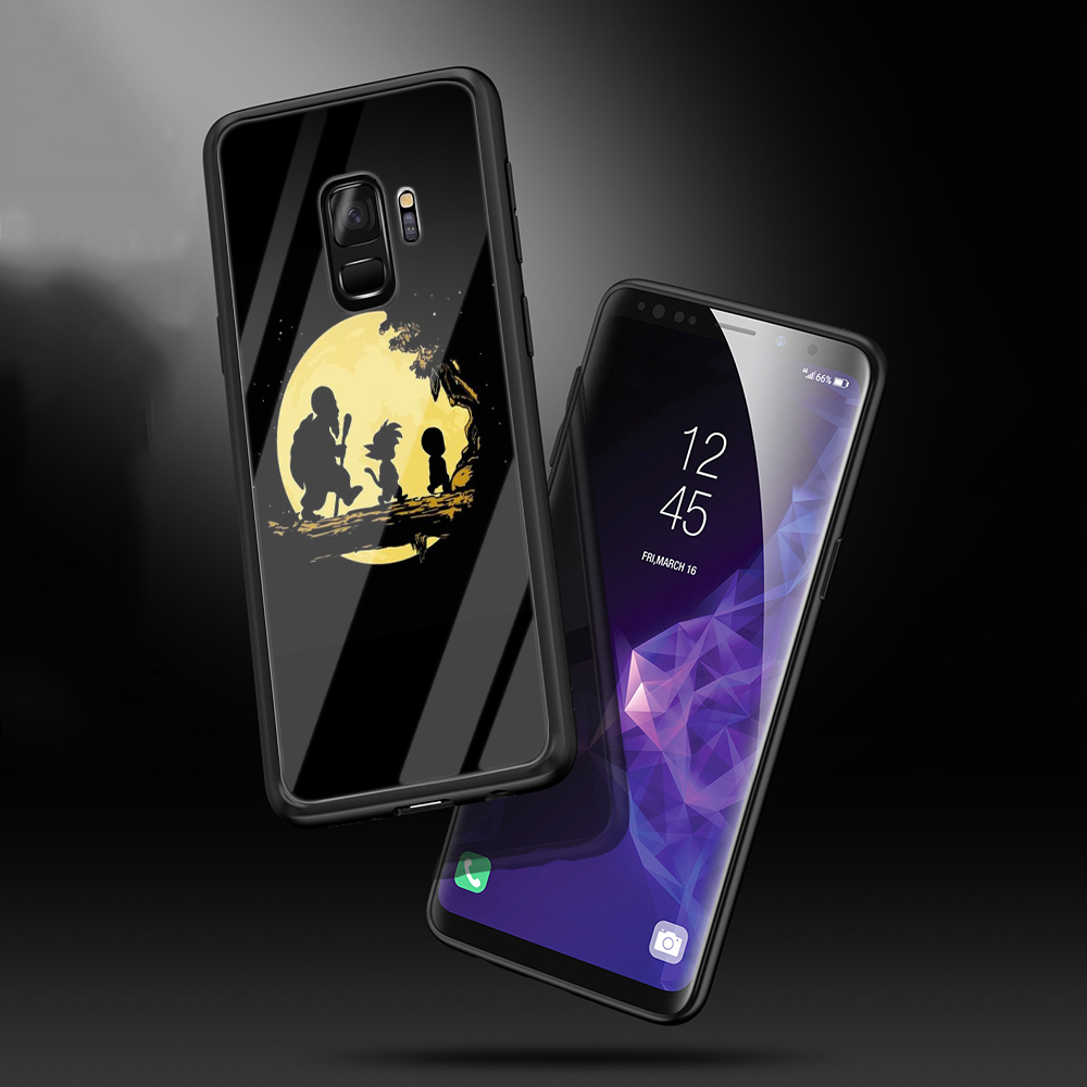 WEBBEDEPP Dragon Ball Z Tempered Glass Soft Case for Samsung Galaxy S8 S9 S10 Plus Note 8 9 A30 A50 A70 Cover in Fitted Cases from Cellphones Telecommunications