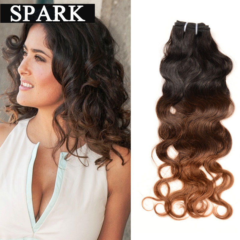 Ombre Brazilian Hair Extensions Natural Wave Ombre Human Hair 1 Bundle Wet and Wavy Ombre Natural Wave Rosa Mocha Hair BW6