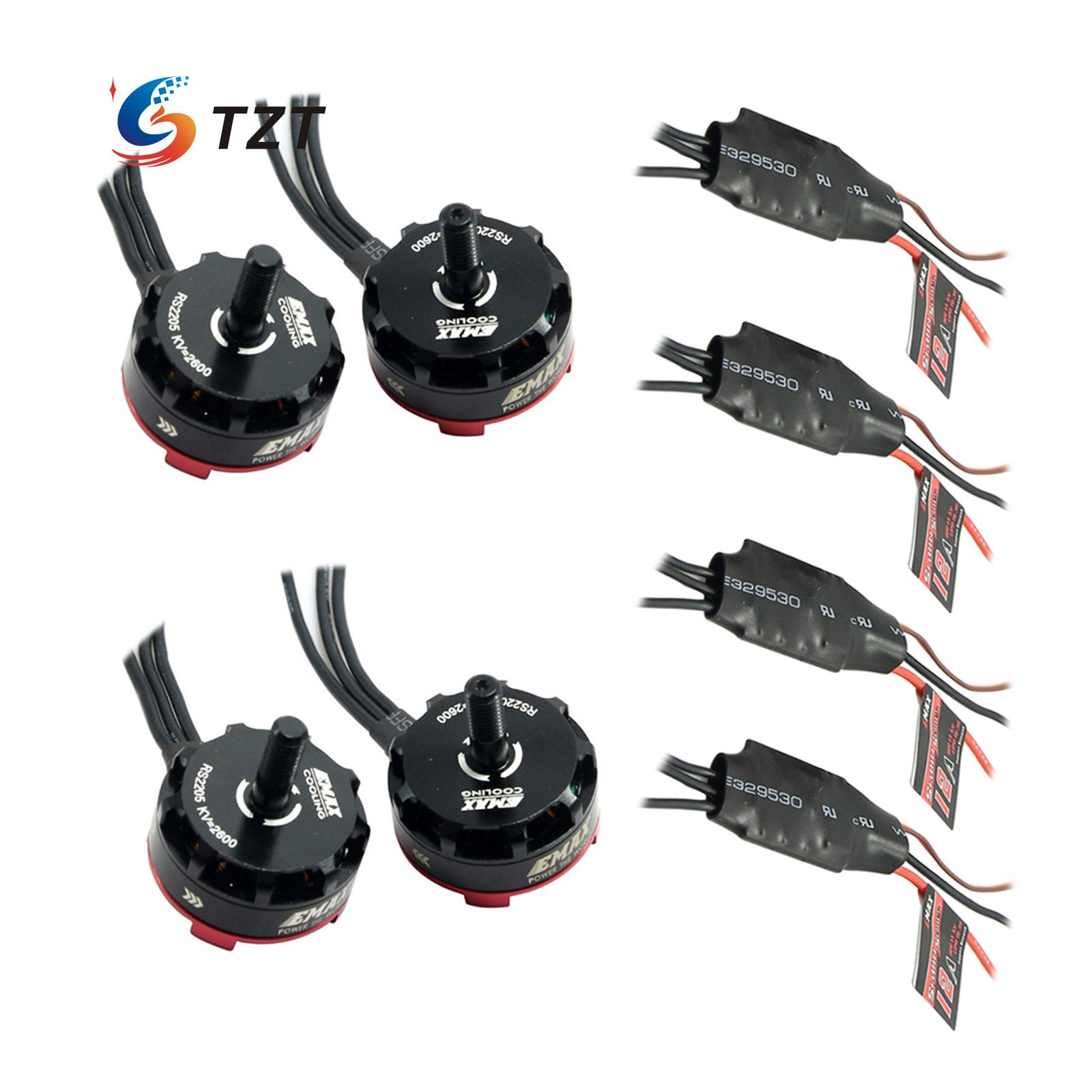 Emax RS2205 2300KV/2600KV Racing Edition Motor with Simonk 12A ESC for FPV QVA250 Quadcopter Multicopter - 4 Pack touchstone teacher s edition 4 with audio cd