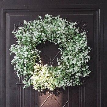 40cm Simulation Starry Garland Home Wall Artificial Babys Breath Beautiful Wreath Garland Wedding Prop Holiday Decoration New