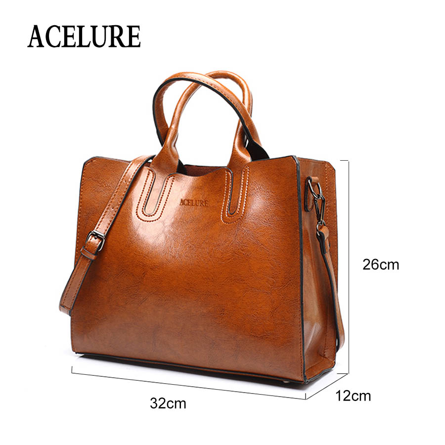 ACELURE Leather Handbags Big Women Bag High Quality Casual Female Bags Trunk Tote Spanish Brand Shoulder Bag Ladies Large Bolsos Lahore