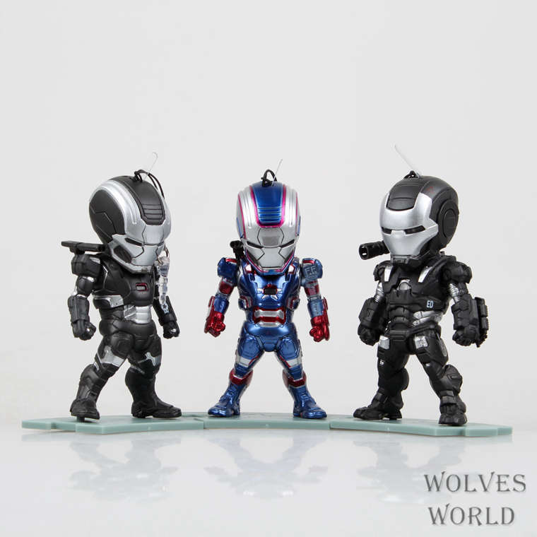 SAINTGI Marvel Avengers Assemble Iron Man Iron Patriot Doll 3in1 Super Heroes PVC 10CM Action Figure Collection Model Toys Dolls фотообои marvel marvel comic heroes 3 68х2 54 м