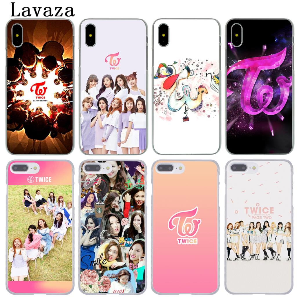 Lavaza TWICE Kpop Hard Phone Cover Case for Apple iPhone XR XS Max X 8 7 6 6S Plus 5 5S SE 5C 4S 10 Cases 7Plus 8Plus