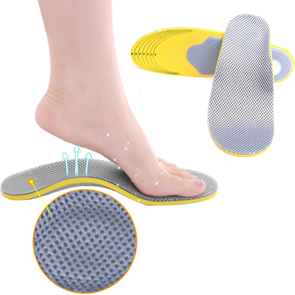 1 Pair Arch Support Insole Soft EVA Orthotic Orthopedic Arch Support Shoe Insoles Pads For Men& Women Flatfeet Pain Relief