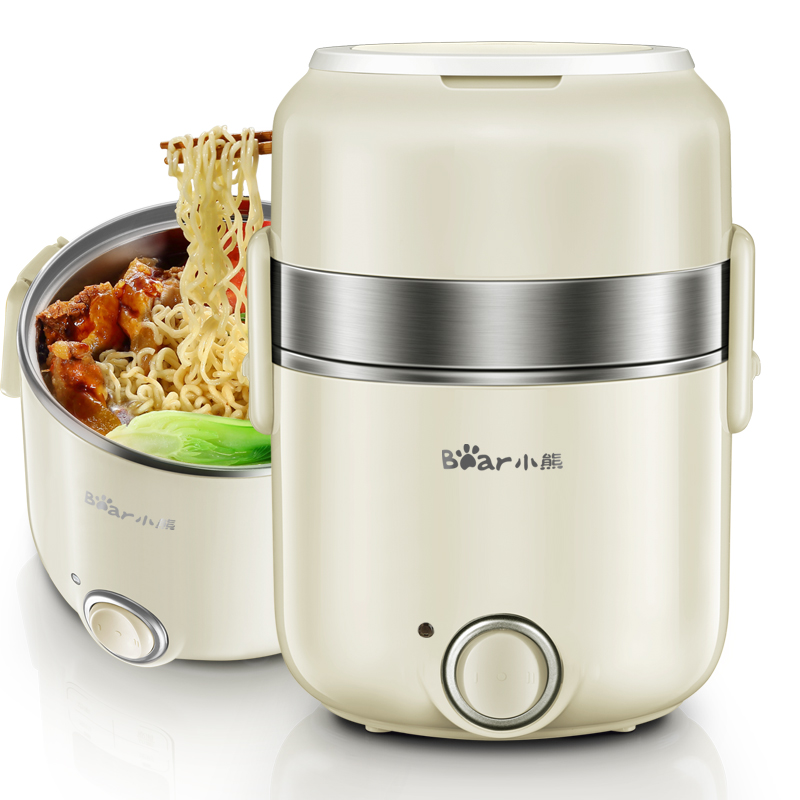 220V Bear 304 Stainless Steel Electric Rice Cooker Multifunctional 3 Layers Electric Lunch Heating Box For Student Office 110v 220v dual voltage travel cooker portable mini electric rice cooking machine hotel student multi stainless steel cookers