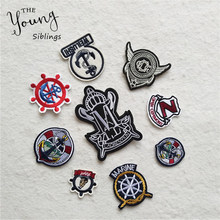Exquisite embroidery patches boat rudder iron on patch badges for Clothes Bag Phone thermo-stickers Scrapbooking DIY Accessories(China)