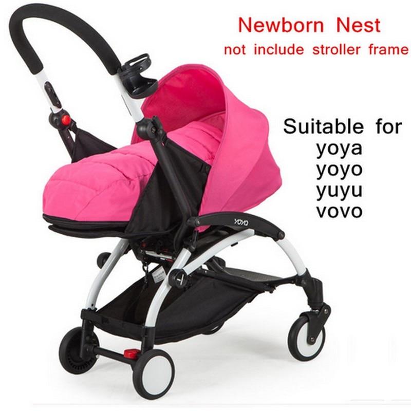 ФОТО Baby Yoya stroller Accessories Sleeping Basket Light Prams Birth Nest Pushchair Baby Sleep Bag Suitable for 0 to 6 M Newborn