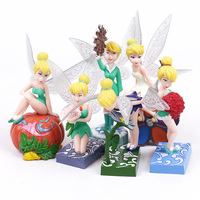 Tinker Bell Fairies Toys PVC Figures Party Dolls s Christmas Birthday Gifts for Girls 6pcs/set