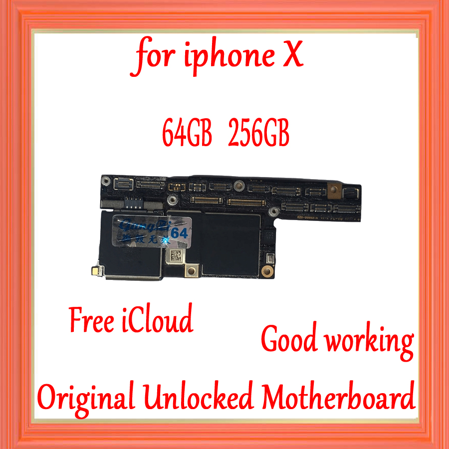 No Face ID for iphone X Motherboard unlocked,Original Board for iphone x Motherboard with Clean iCloud,64GB / 256GB,Good TestedNo Face ID for iphone X Motherboard unlocked,Original Board for iphone x Motherboard with Clean iCloud,64GB / 256GB,Good Tested