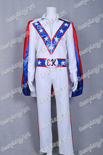 Mens Evel Knievel Fancy Dress Costume
