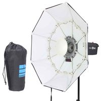 70cm White Portable Collapsible Beauty Dish Octagon Softbox Bowens Mount for Bowens Mount Godox Studio Flash