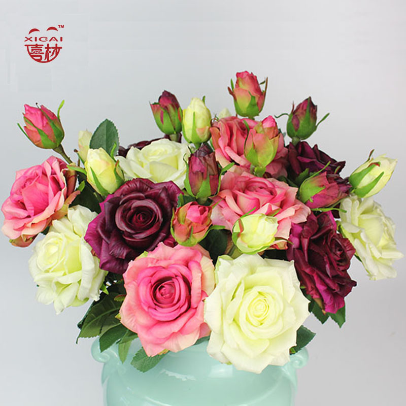 7 9 11 15 PCS Purchase Single Side Latex Coating Home Wedding Decoration Flower Decorative Real