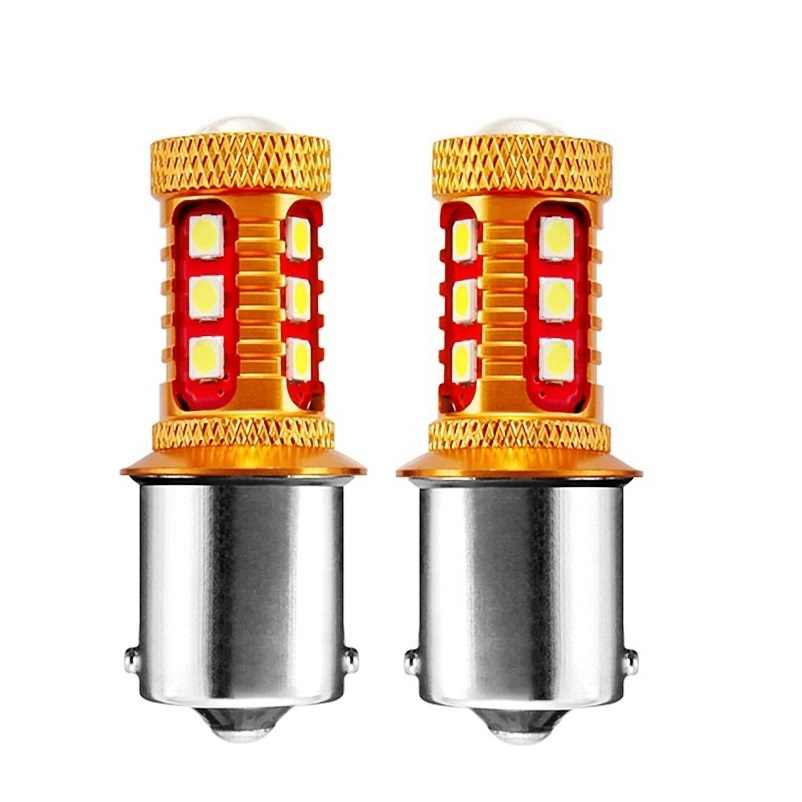 2PCS 1156 P21W 7506 BA15S Super Bright 1000LM 3030 LED Auto Reverse Light Brake Lamp Car DRL Daytime Running Bulbs Turn Signals