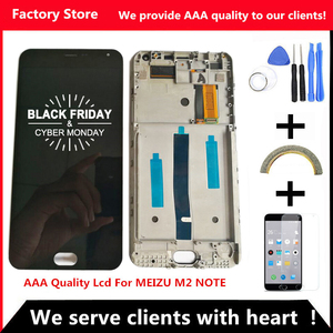 AAA Quality LCD+Frame For MEIZU M2 Note Lcd Display Screen Replacement For MEIZU M2 Note Digiziter Assembly(China)