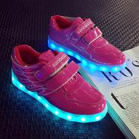 Kids LED Light Up Shoes Top Wings Boys Girls Casual Shoes USB Charging Basket Led