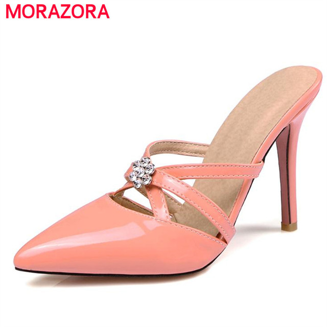046315b24af32 MORAZORA Large size 34-47 women sandals high heels shoes elegant fashion  party shoes solid