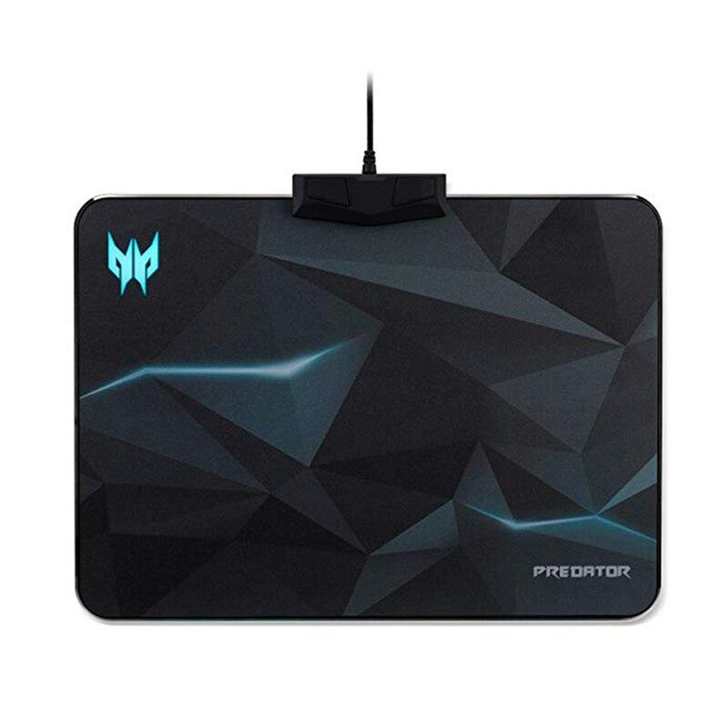 Tapis de souris RGB éclos illumine le tapis de souris tapis de souris de jeu avec 6 effets d'éclairage et 4 tapis de souris de jeu de niveau de luminosité