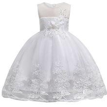 2-10 Yrs Girls Princess Party Dress Kids Teenagers Sleeveless Wedding Pageant Christmas New Year Formal Festival Lace Outfits