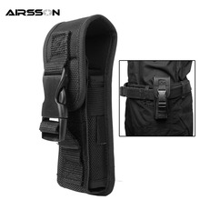 Outdoor Hunting Tactical Flashlight Pouch Nylon Combat Molle Electronic Torch Waist Bag Small Size Portable Flashlight Holster