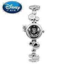 2017 Disney Niños Reloj Relojes de pulsera de Cuarzo reloj de las mujeres de Moda Casual Lindo para Los Niños de Mickey Mouse reloj de Cuero