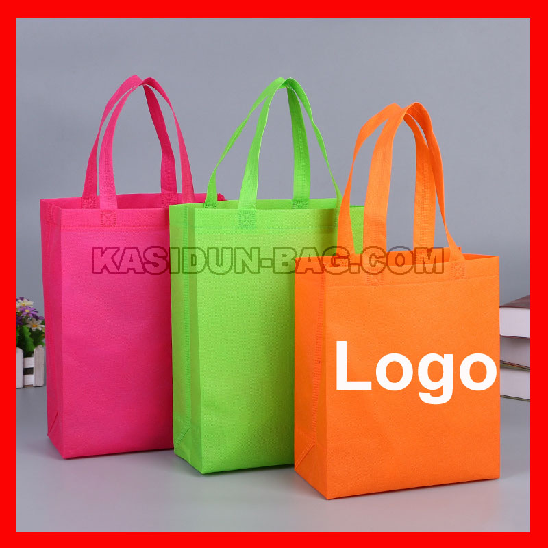 (100pcs/lot) custom logo shopping bag promotional 100pcs lot 20d221k