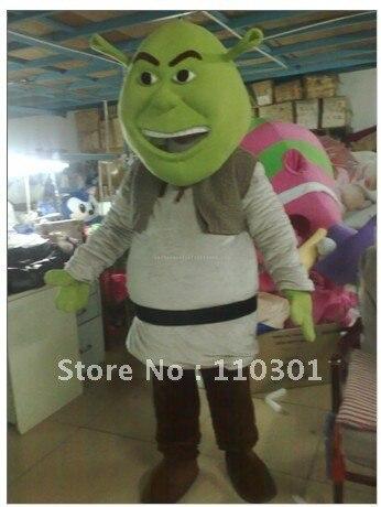 0fda8783c Disfraz de Mascota de dibujos animados para adultos Shrek vestido de lujo  envío gratis