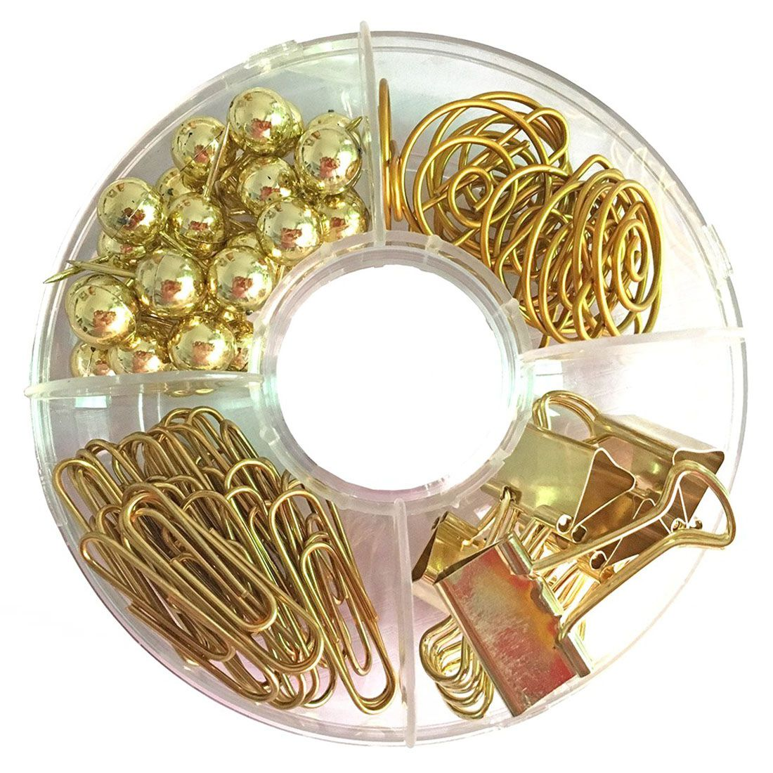 65 PCS Golden Paper Clips Set,Multi-Kind Push-Pin Map Tacks Long Tail Clip Paper Clip Binder Pin Clip for School,Home Office канцелярские кнопки drawing pin creative office 136