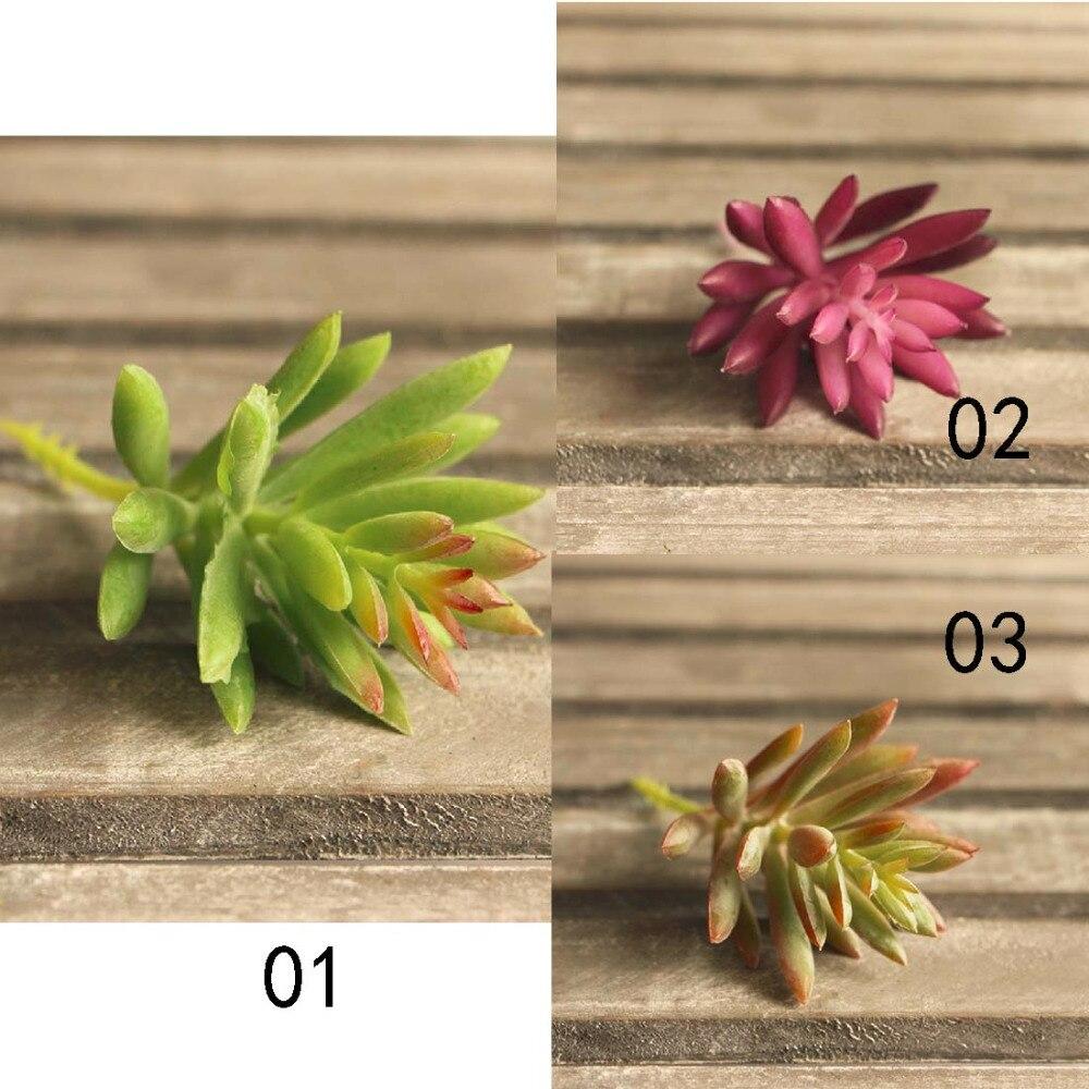 1pcs Snowflake Lotus Plant Garden Succulent Grass Desert Artificial Plants Landscape Arrangement Garden Cute Decoration